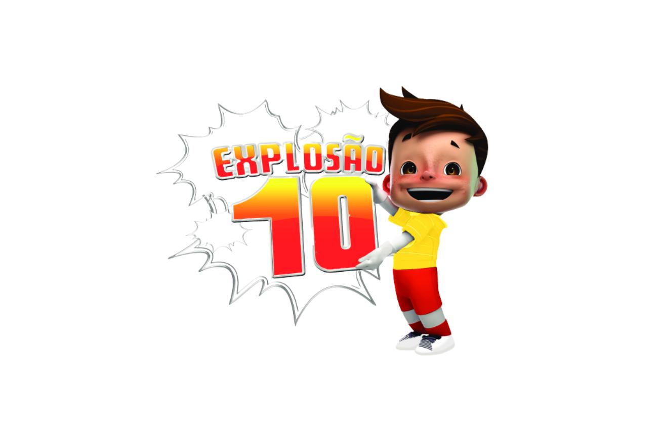 Explosão 10 sorteia TV e vales-compras. Veja o vídeo!