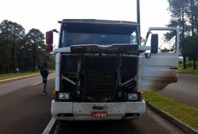 PRF apreende carreta adulterada na BR-282, em Xanxerê