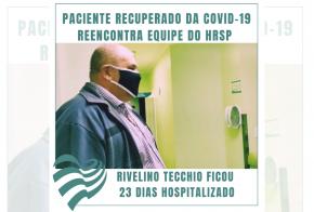 Vídeo: paciente recuperado de Covid-19 volta ao hospital para agradecer equipe