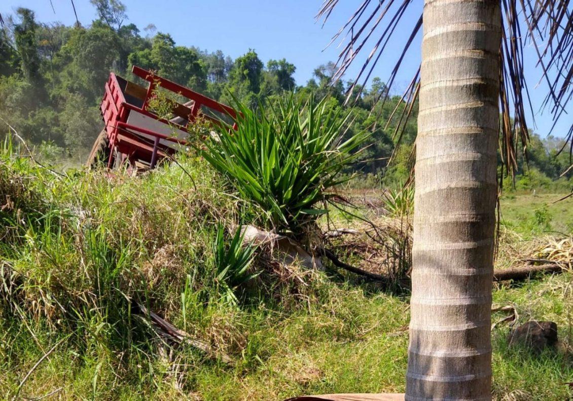 Idoso morre em acidente com carreta agrícola no Oeste de SC