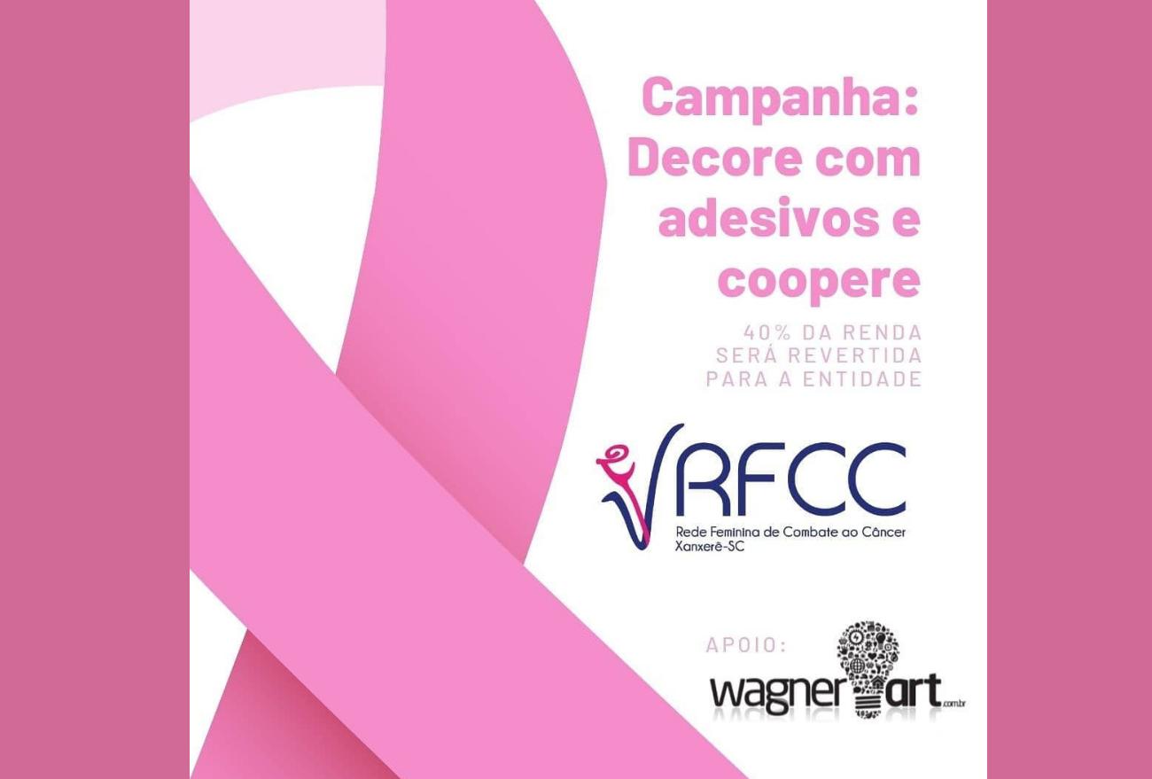 RFCC lança campanha para que comércio decore vitrines com adesivos do Outubro Rosa