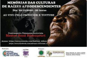 """Contramestre promove entrevistas sobre """"Memórias das Culturas de Raízes Afrodescendentes"""""""
