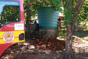 Comunidades do interior de Xanxerê já receberam mais de um milhão de litros de água