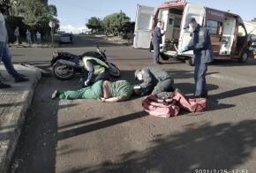 Motociclista sofre várias fraturas após acidente, em Xanxerê