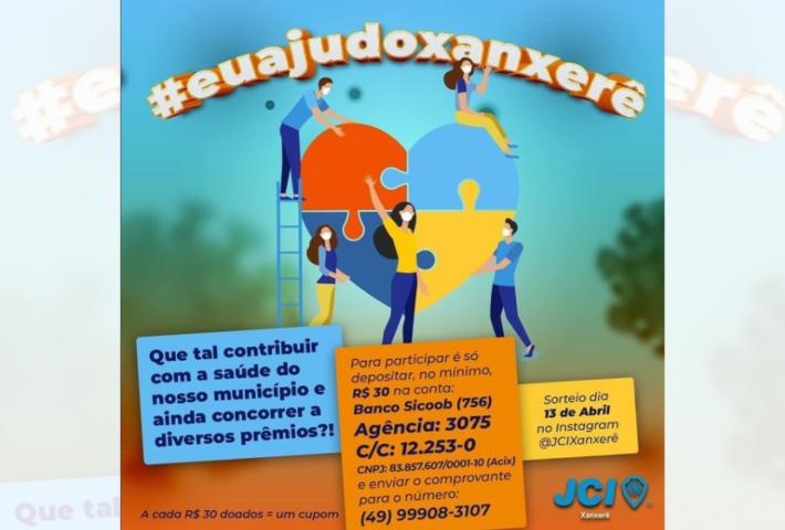 JCI de Xanxerê lança campanha para ajudar sistema de saúde da cidade