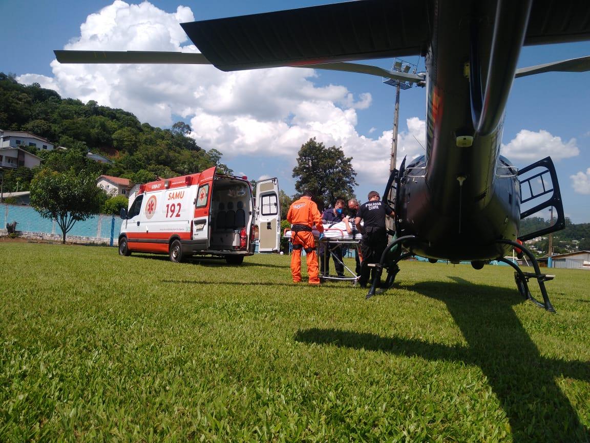Mulher de Chapecó é deslocada para Hospital São Paulo em Xanxerê após sofrer infarto