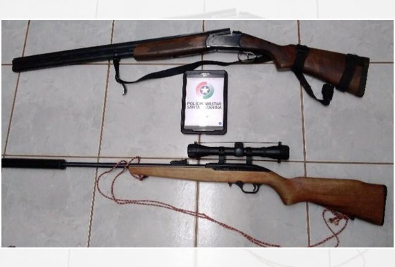 Homens são presos com armas e munições no centro de Abelardo Luz