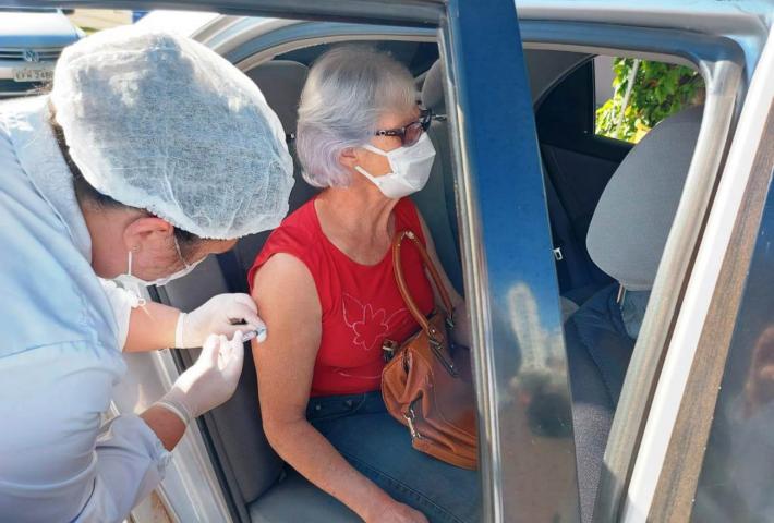 Mais de 280 idosos de 65 anos foram vacinados contra a Covid-19 em Xanxerê