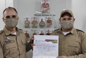 Soldado policial é premiado como destaque do mês de abril, em Xanxerê