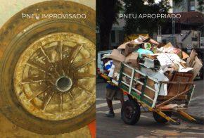 Pneu de carrinho de recicladores é roubado e família pede ajuda da comunidade, em Xanxerê