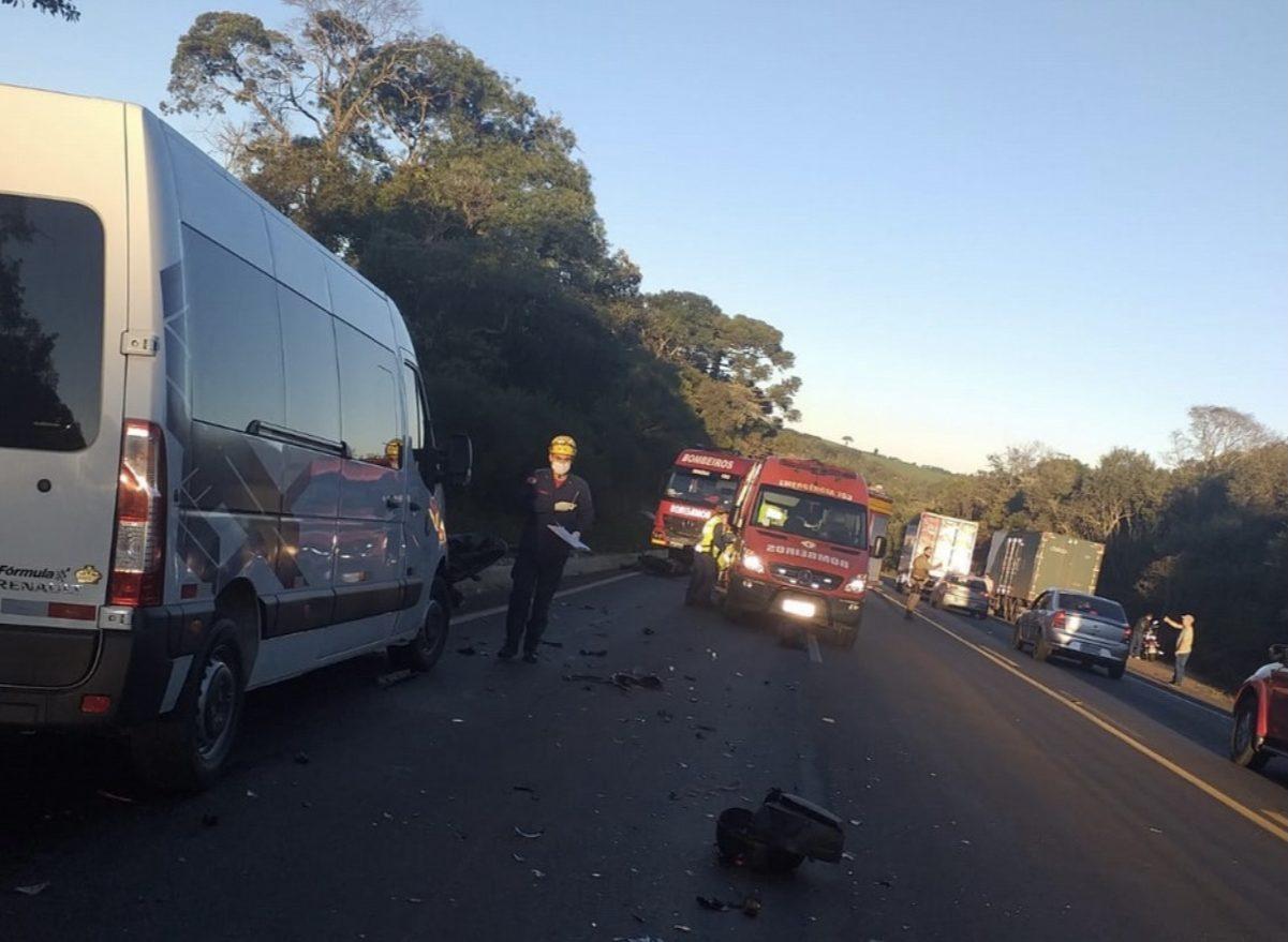 Motociclista morre em acidente de trânsito na BR 282