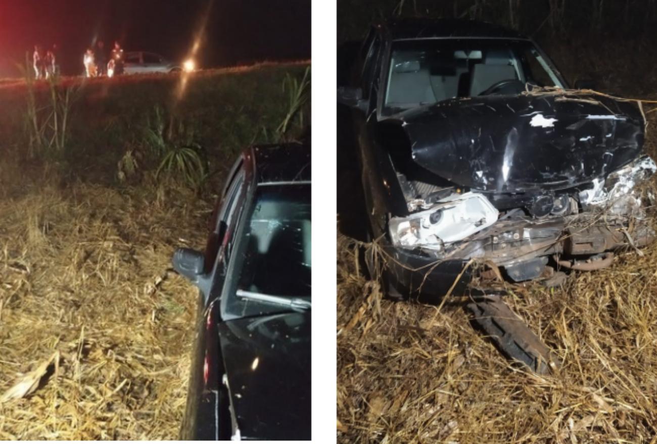 Quatro pessoas ficam feridas em acidente de trânsito na SC-155