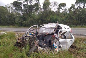 Motorista de veículo do Oeste de SC morre em grave acidente