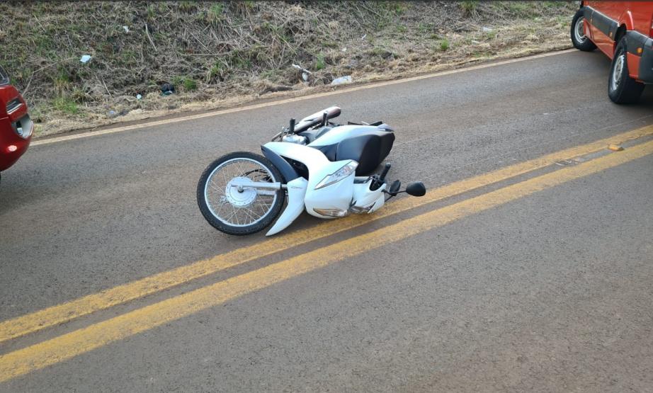 Motociclista que sofreu acidente em Xanxerê é transferida para hospital de Chapecó