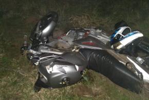 Jovem fica ferido em acidente de moto na SC-155