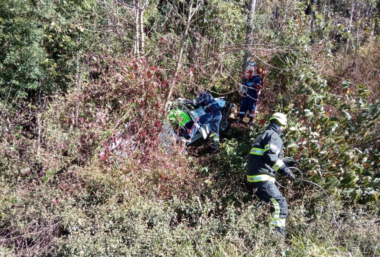 Pai e filha ficam gravemente feridos em acidente de trânsito na SC-155