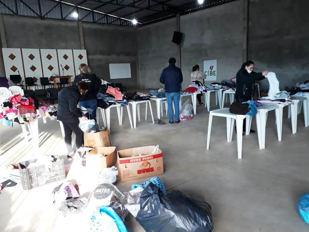 Social faz ações para distribuir doações recebidas pela Campanha do Agasalho