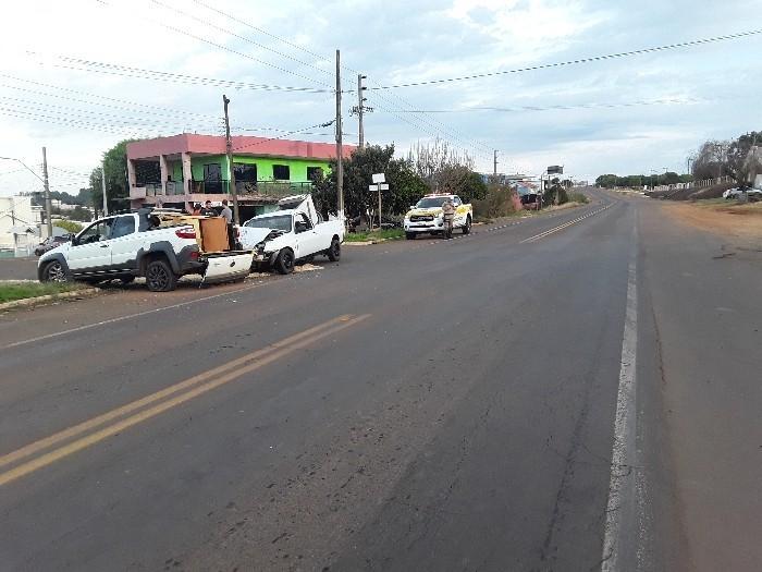 Polícia Rodoviária Estadual atende acidente na SC-155