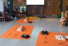 Servidores do Samu USB da Secretaria de Saúde de Xanxerê realizam treinamento