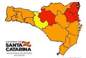 Covid: Matriz aponta uma região em risco alto, 11 em situação grave e quatro em risco gravíssimo