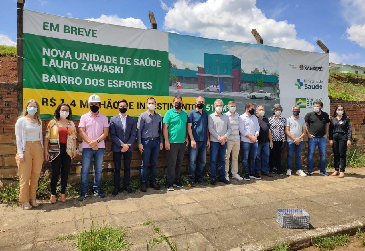 Assinada ordem de serviço para construção da UBS no bairro dos Esportes em Xanxerê