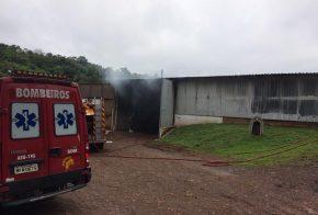Homem sofre queimaduras durante incêndio em fábrica de maravalhas