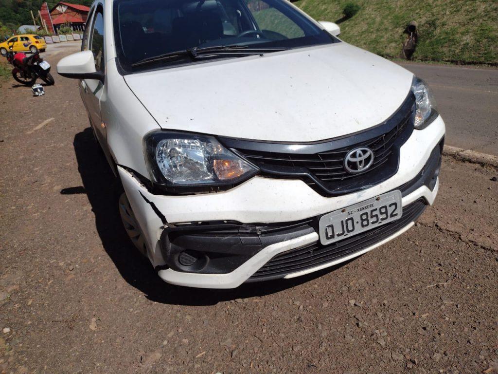 Veículo de Xanxerê se envolve em acidente, em Seara